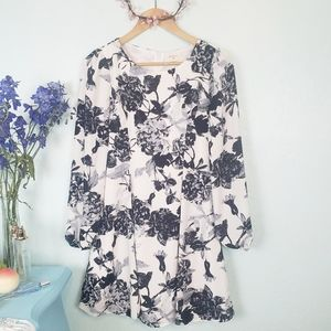 Everly long sleeve floral dress